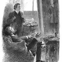 Grabado de la primera edición ilustrada de El Retrato de Dorian Gray (1908)