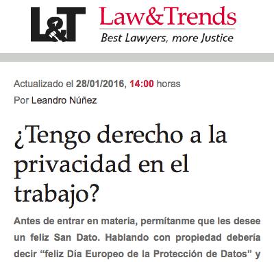 ¿Tengo derecho a la privacidad en el trabajo?