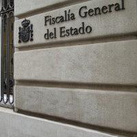 Fachada posterior del palacio de la Fiscalía General del Estado, en Madrid