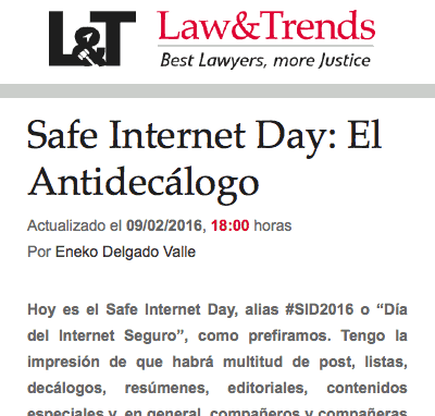 Safer Internet Day: el Antidecálogo