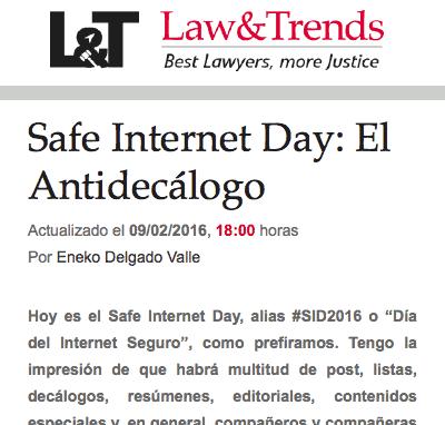 Safer Internet Day: el Antidecálogo