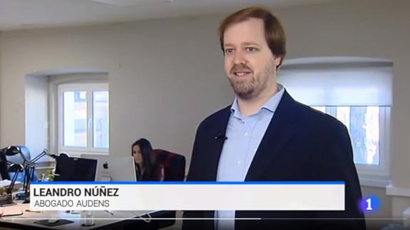 Leandro Núñez interviene en el Telediario.
