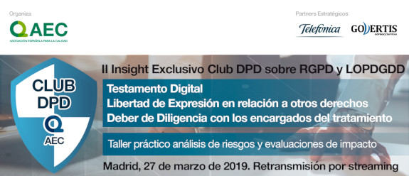 II Insight Club DPD sobre RGPD Y LOPDGDD